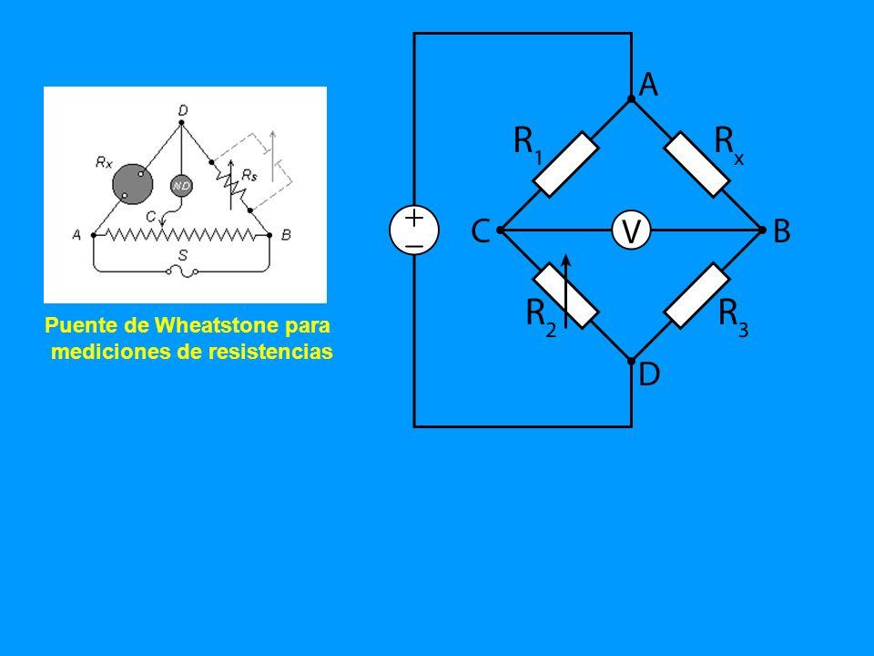 Puente de Wheatstone para mediciones de resistencias