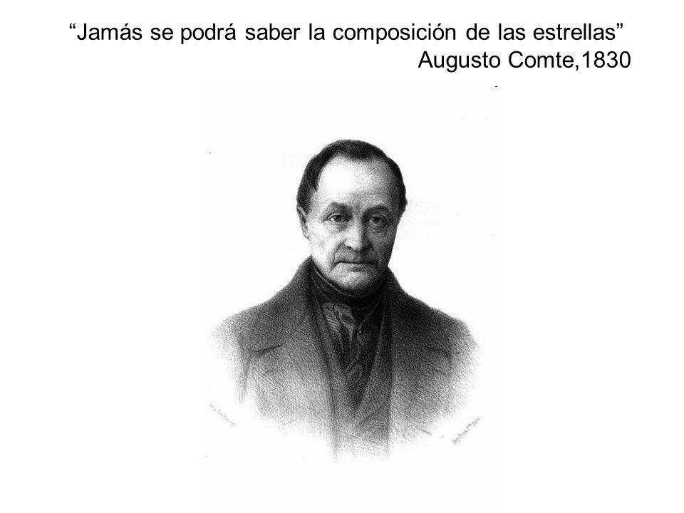 Jamás se podrá saber la composición de las estrellas Augusto Comte,1830