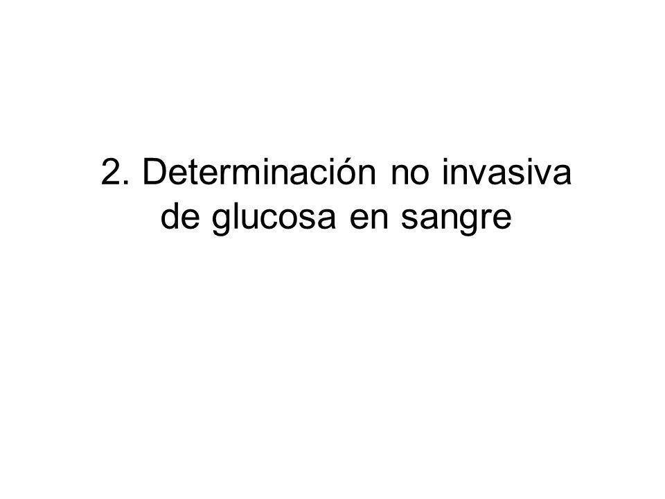 2. Determinación no invasiva de glucosa en sangre