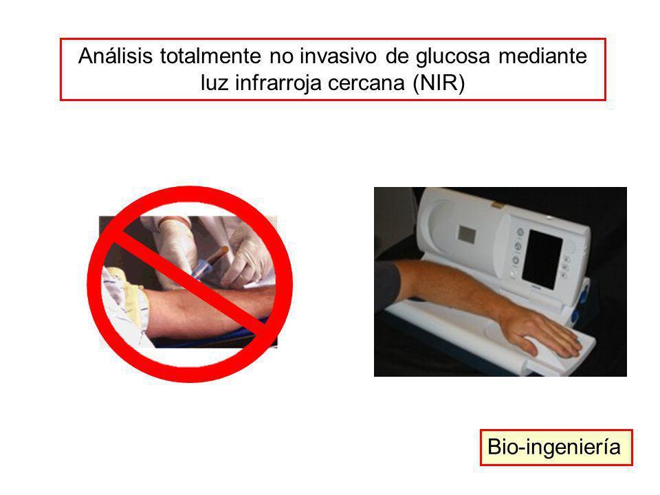 Análisis totalmente no invasivo de glucosa mediante luz infrarroja cercana (NIR) Bio-ingeniería