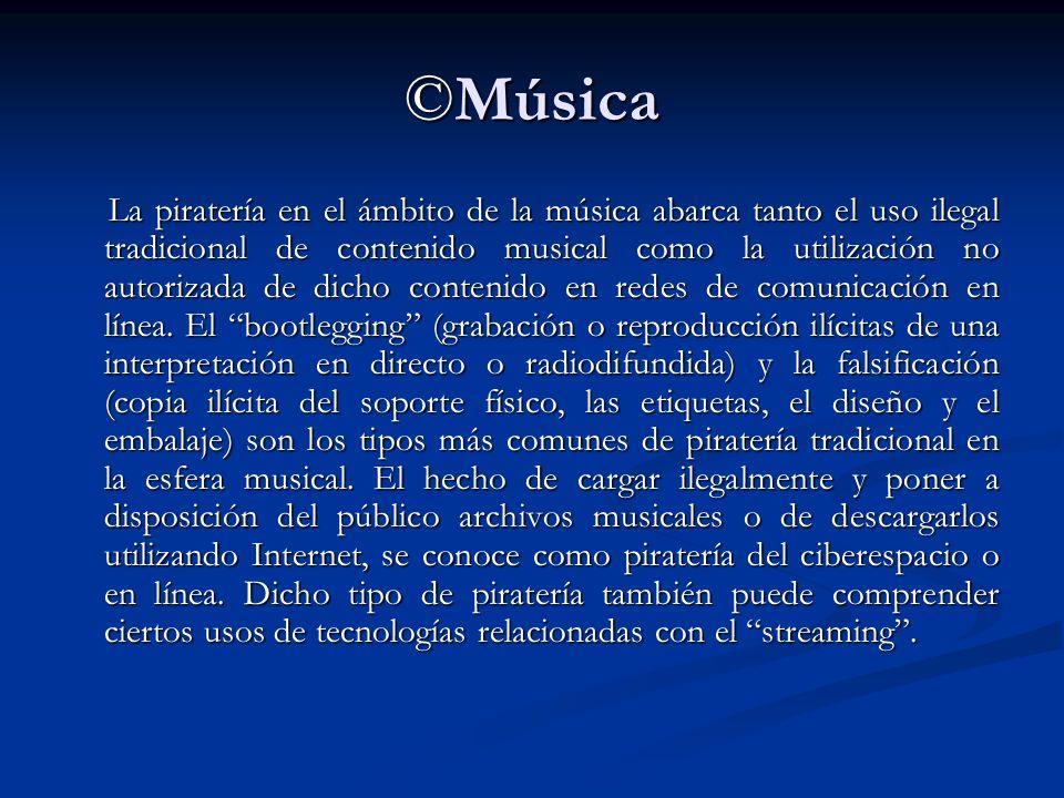 ©Música La piratería en el ámbito de la música abarca tanto el uso ilegal tradicional de contenido musical como la utilización no autorizada de dicho