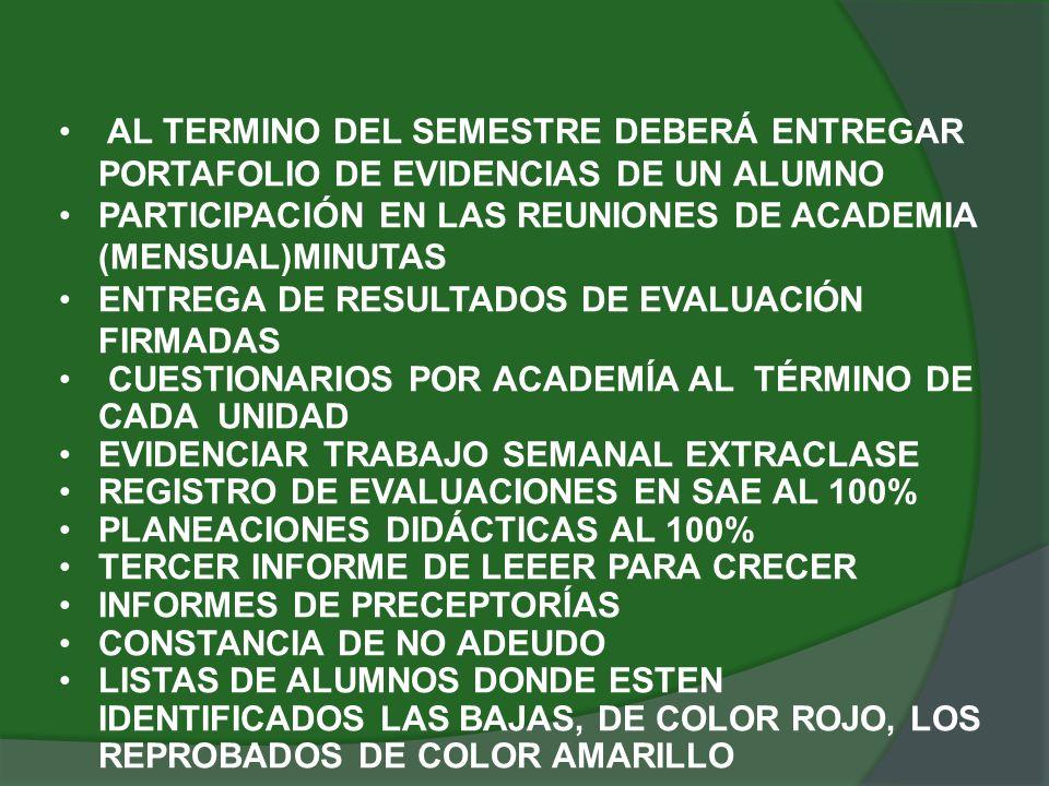CRONOGRAMA DE ACTIVIDADES FECHAACTIVIDADRESPONSABLE 9-12-2011TERMINO DE CLASESFORMACIÓN TÉCNICA 9,10-12-2011CAPTURA DE CALIFICACIONES EN SAE DOCENTES 12-12-2011IDENTIFICACION DE ALUMNOS NO ACREDITADOS SERV.