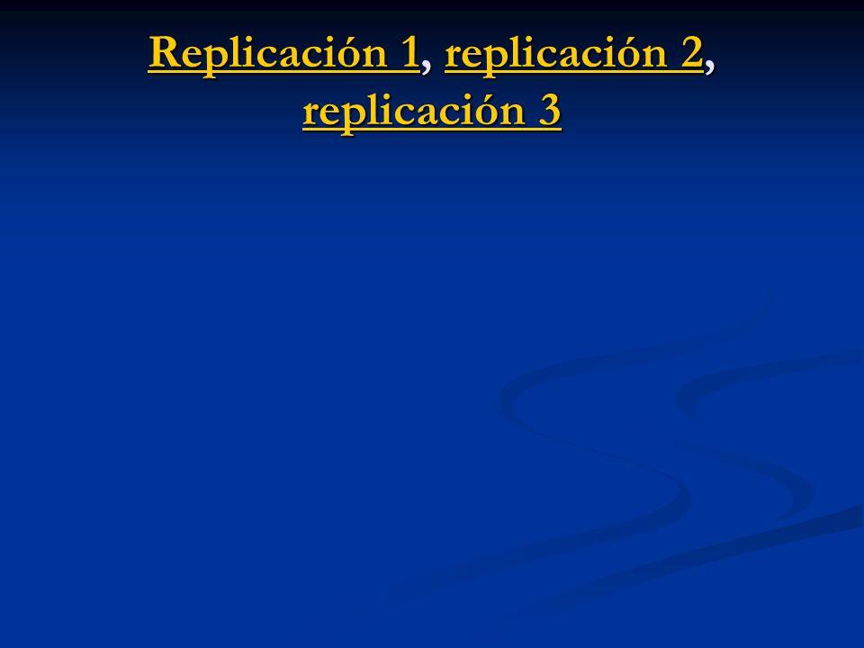 Replicación 1Replicación 1, replicación 2, replicación 3 replicación 2 replicación 3 Replicación 1replicación 2 replicación 3