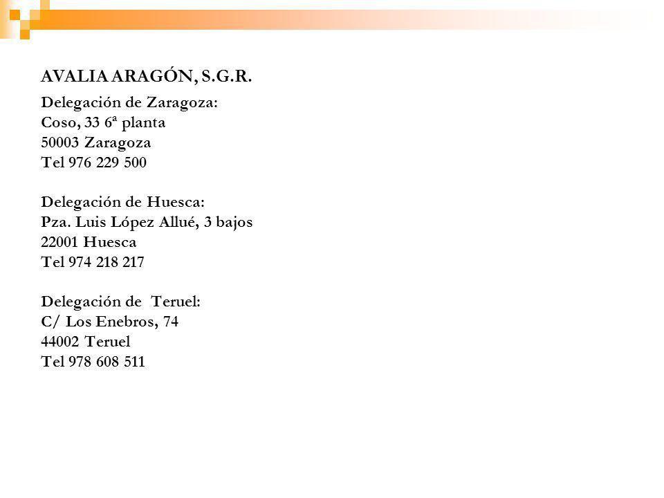 Delegación de Zaragoza: Coso, 33 6ª planta 50003 Zaragoza Tel 976 229 500 Delegación de Huesca: Pza.