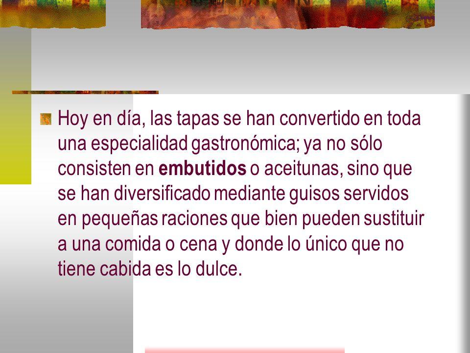 El Diccionario de La Real Academia Española define la palabra tapa como una pequeña porción de algún alimento que se sirve como acompañamiento de una