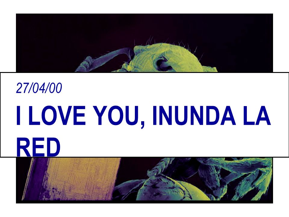 27/04/00 I LOVE YOU, INUNDA LA RED