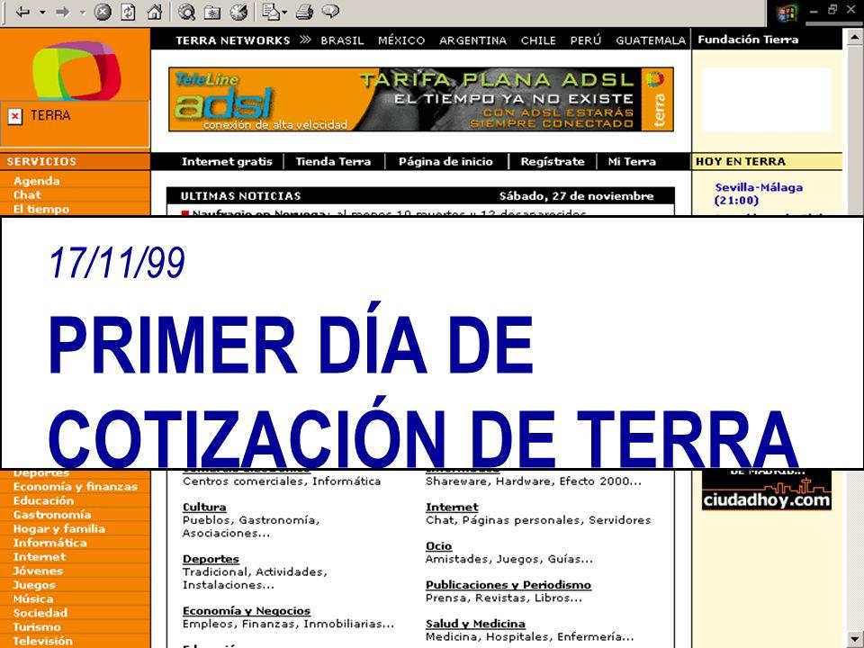 17/11/99 PRIMER DÍA DE COTIZACIÓN DE TERRA