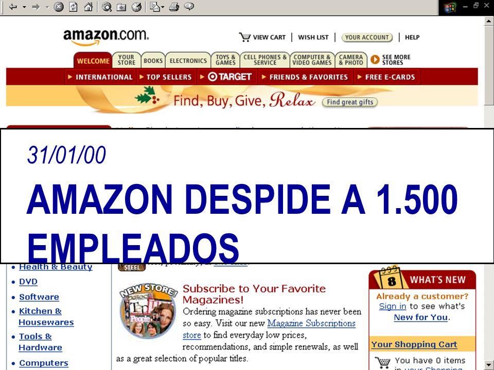 31/01/00 AMAZON DESPIDE A 1.500 EMPLEADOS