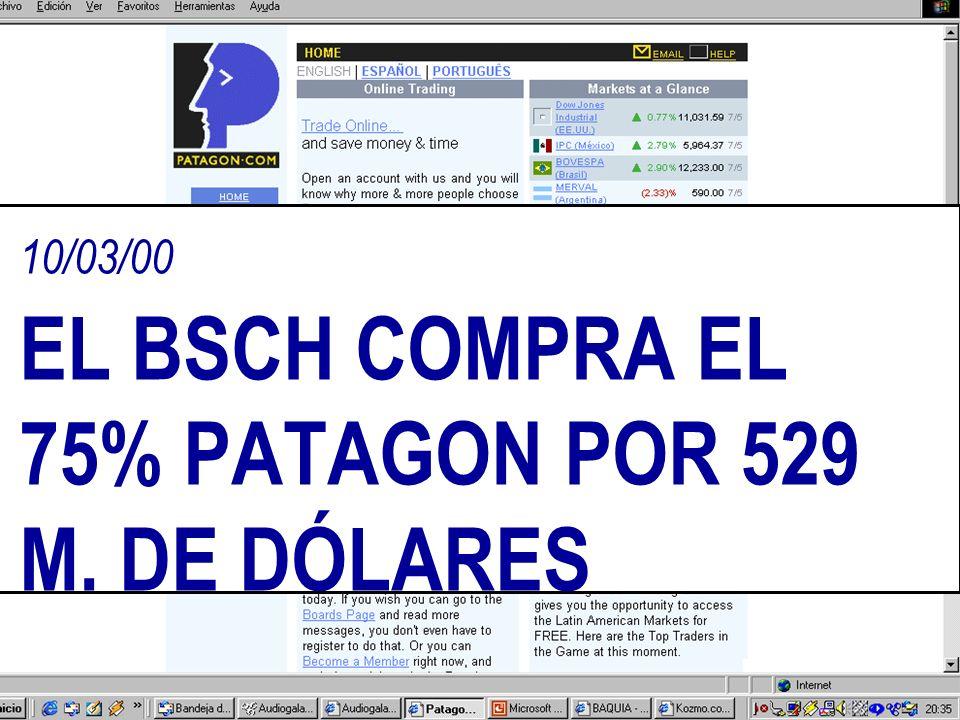 18/05/00 DESPUÉS DE 6 MESES DE ACTIVIDAD Y MÁS DE 135 MILLONES US$ INVERTIDOS BOO.COM CIERRA SUS PUERTAS