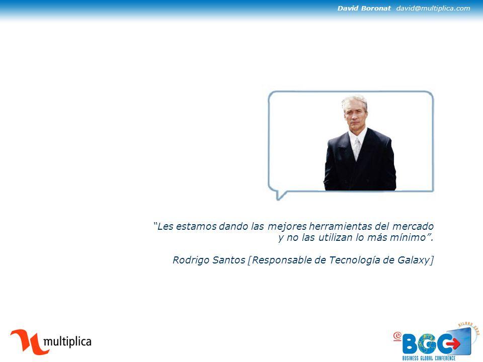 David Boronat david@multiplica.com Les estamos dando las mejores herramientas del mercado y no las utilizan lo más mínimo.