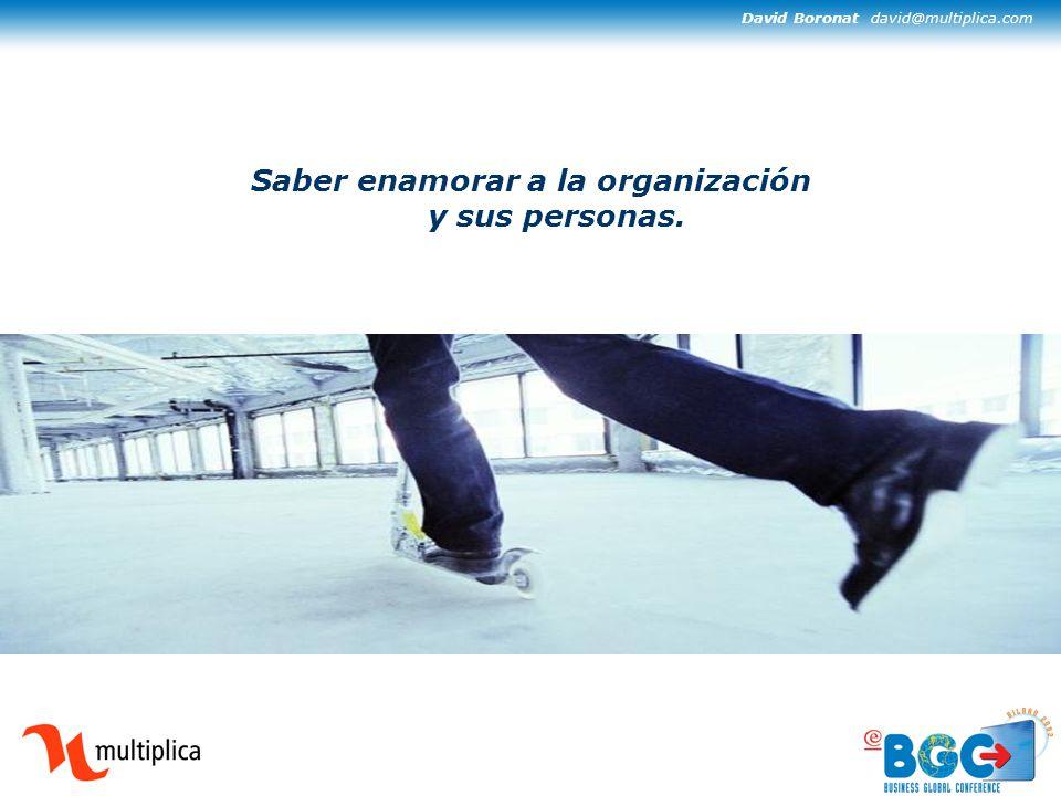 David Boronat david@multiplica.com Saber enamorar a la organización y sus personas.