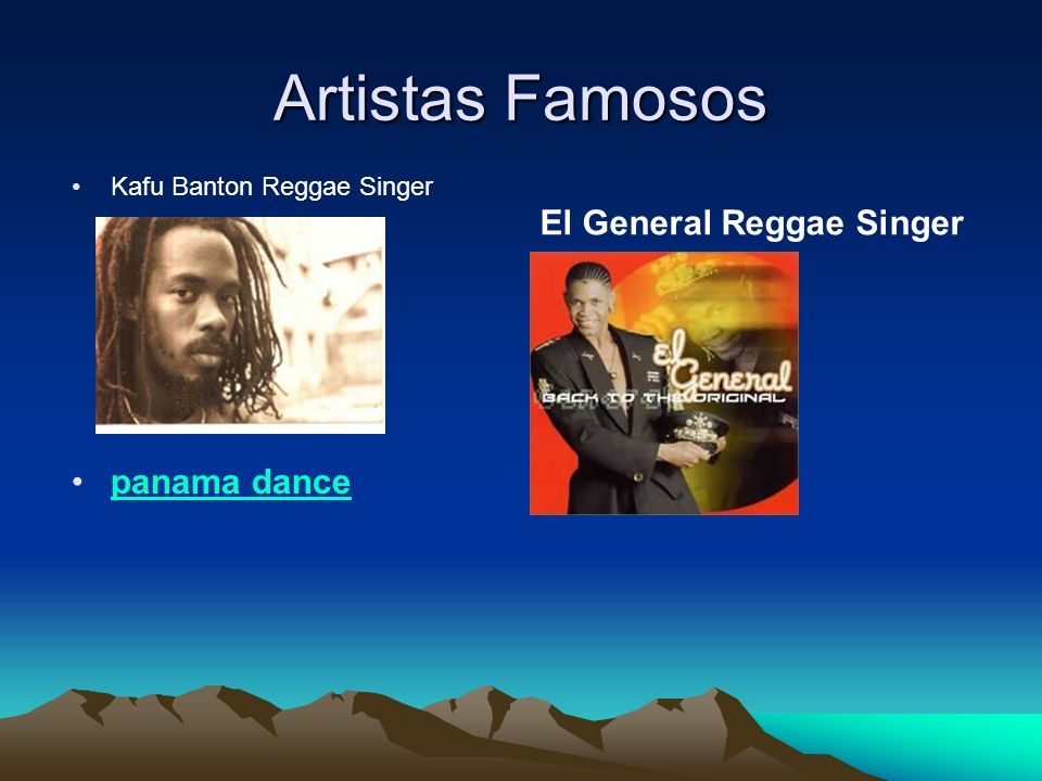 Artistas Famosos Kafu Banton Reggae Singer panama dance El General Reggae Singer