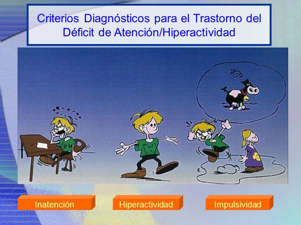 InatenciónHiperactividadImpulsividad Criterios Diagnósticos para el Trastorno del Déficit de Atención/Hiperactividad