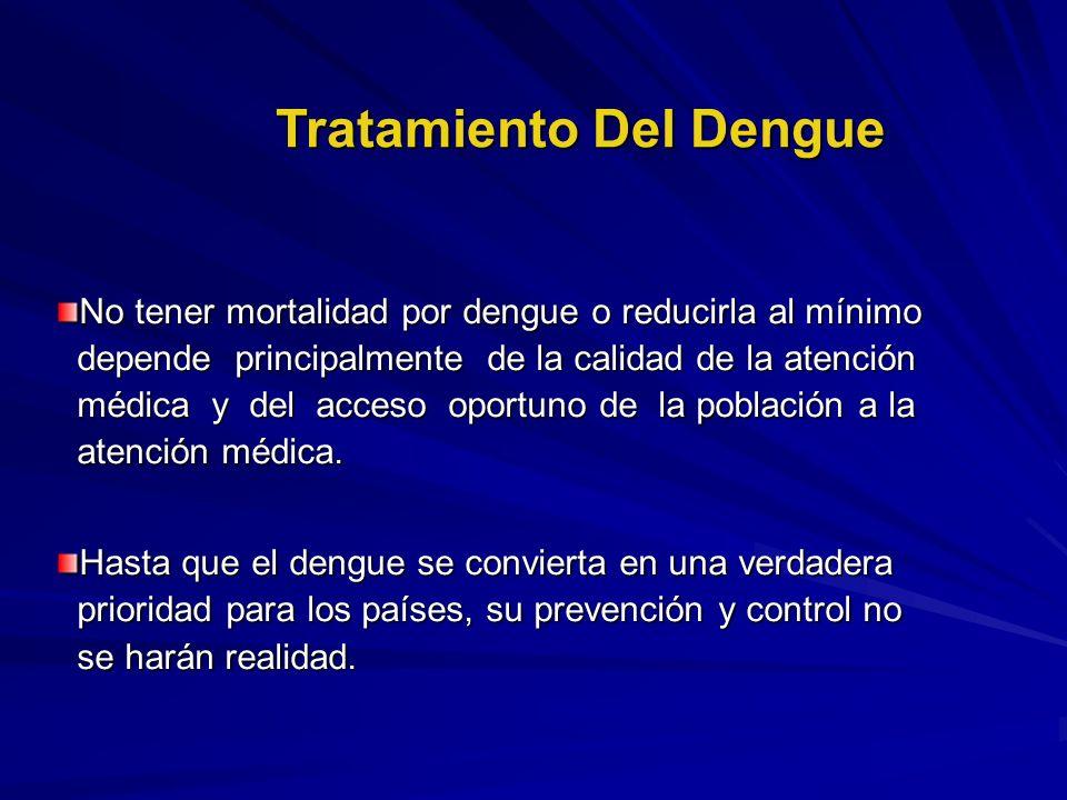 No tener mortalidad por dengue o reducirla al mínimo depende principalmente de la calidad de la atención médica y del acceso oportuno de la población