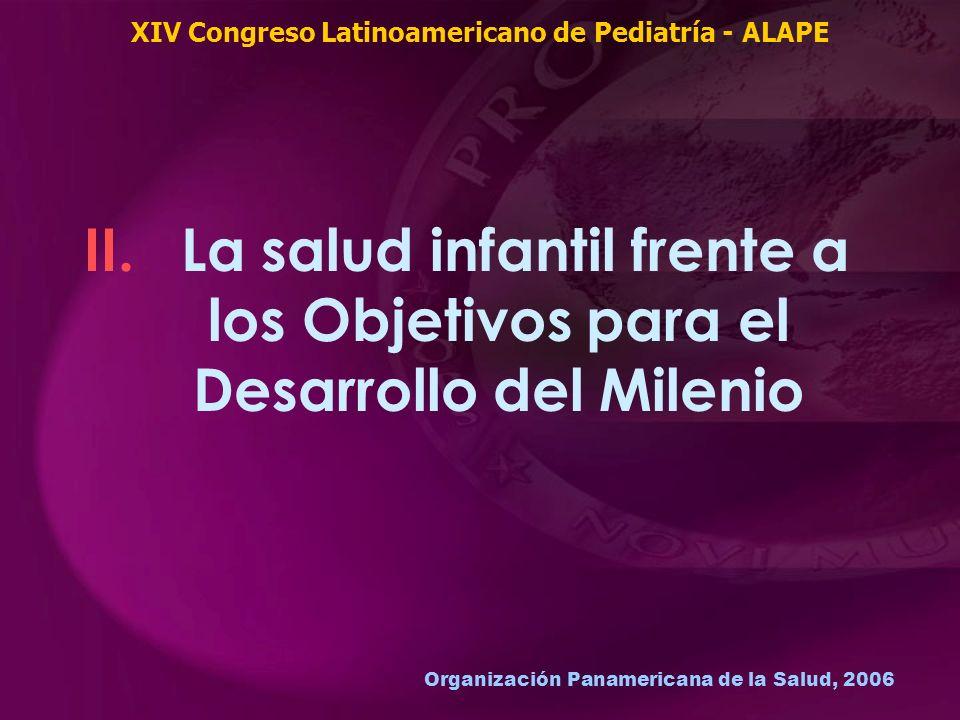 Organización Panamericana de la Salud, 2006 II. La salud infantil frente a los Objetivos para el Desarrollo del Milenio XIV Congreso Latinoamericano d