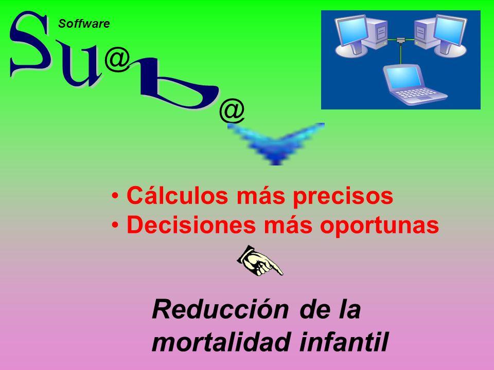 @ @ Soffware Cálculos más precisos Decisiones más oportunas Reducción de la mortalidad infantil