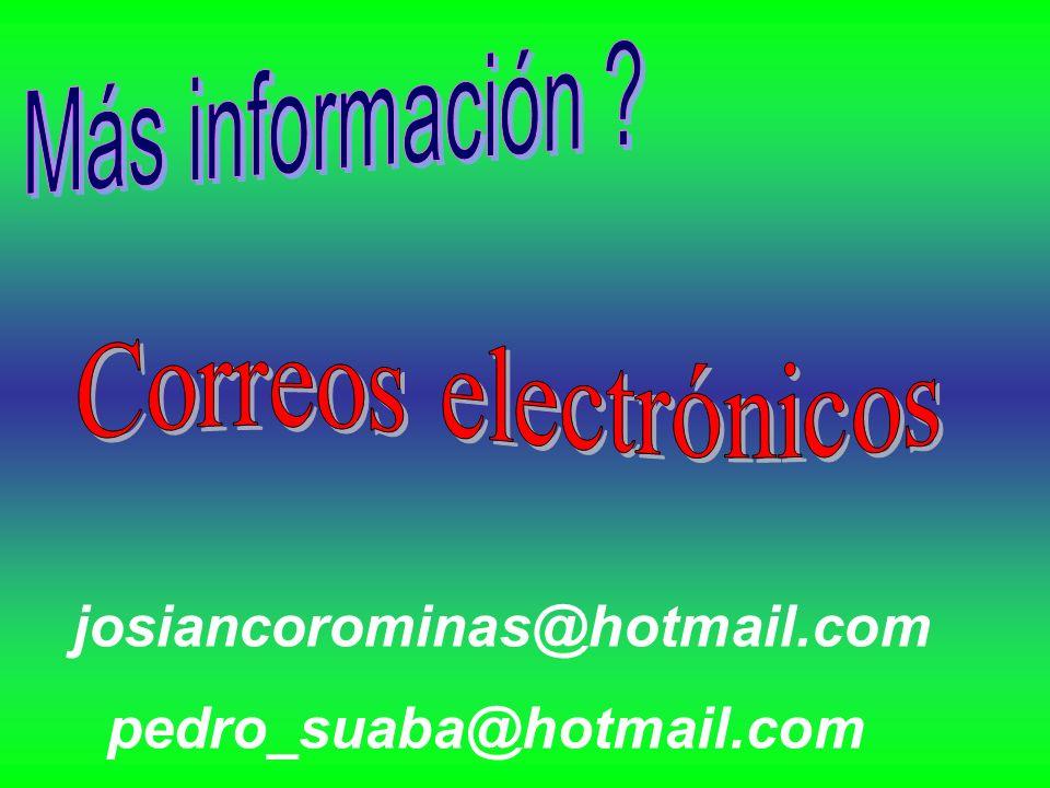 pedro_suaba@hotmail.com josiancorominas@hotmail.com