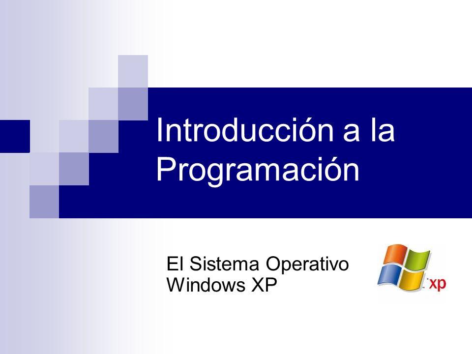 Introducción a la Programación El Sistema Operativo Windows XP