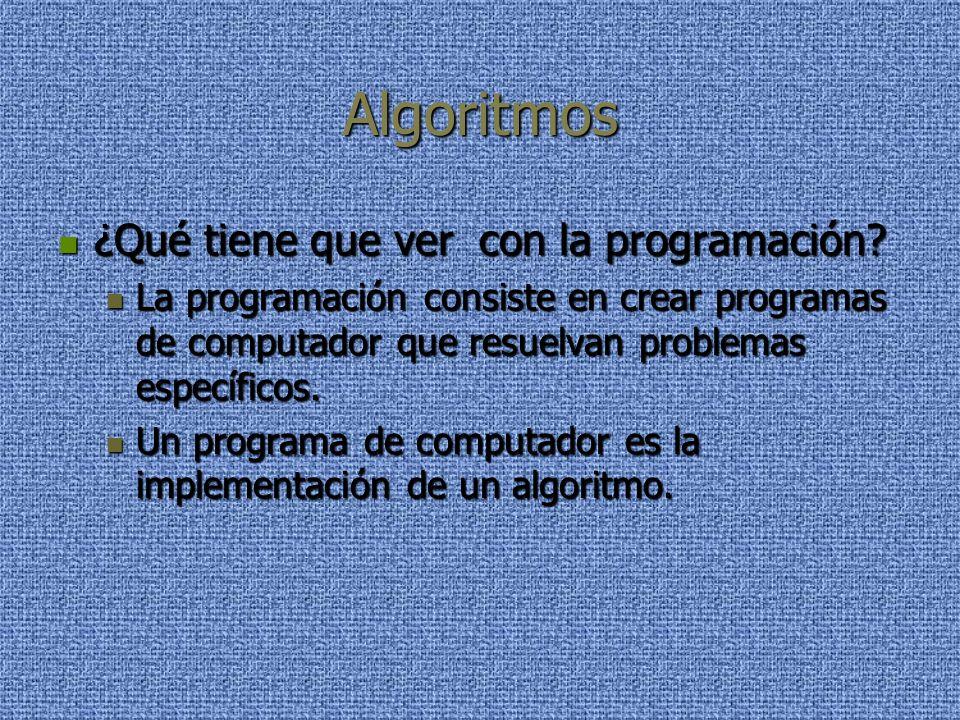 Algoritmos ¿Qué tiene que ver con la programación.