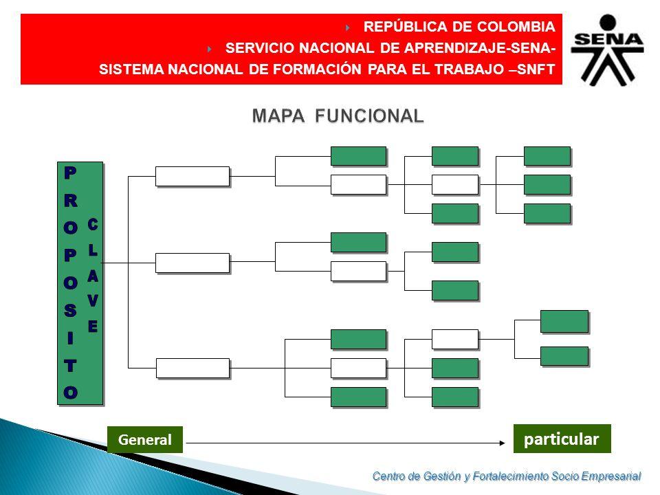 DIRECCIÓN GENERAL REPÚBLICA DE COLOMBIA SERVICIO NACIONAL DE APRENDIZAJE-SENA- SISTEMA NACIONAL DE FORMACIÓN PARA EL TRABAJO –SNFT General particular