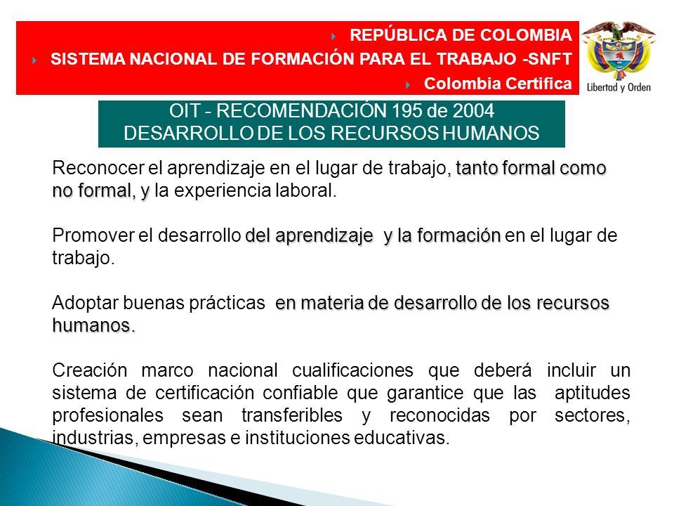 DIRECCIÓN GENERAL, tanto formal como no formal, y del aprendizaje y la formación en materia de desarrollo de los recursos humanos. Reconocer el aprend