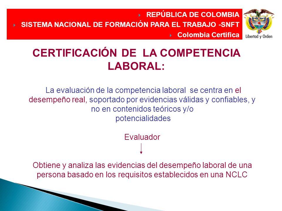 DIRECCIÓN GENERAL DIRECCIÓN GENERAL CERTIFICACIÓN DE LA COMPETENCIA LABORAL: La evaluación de la competencia laboral se centra en el desempeño real, s