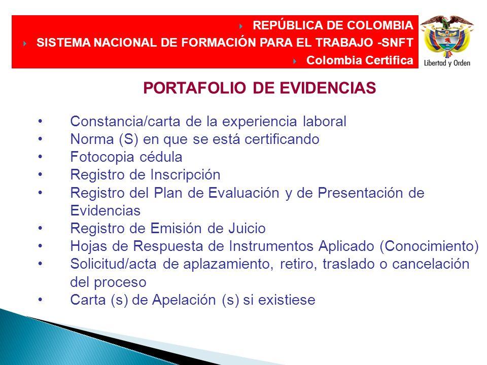DIRECCIÓN GENERAL DIRECCIÓN GENERAL PORTAFOLIO DE EVIDENCIAS Constancia/carta de la experiencia laboral Norma (S) en que se está certificando Fotocopi