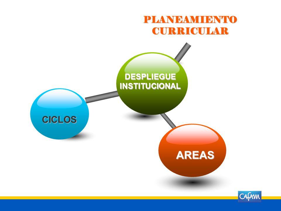DESPLIEGUEINSTITUCIONAL CICLOS AREAS PLANEAMIENTO CURRICULAR