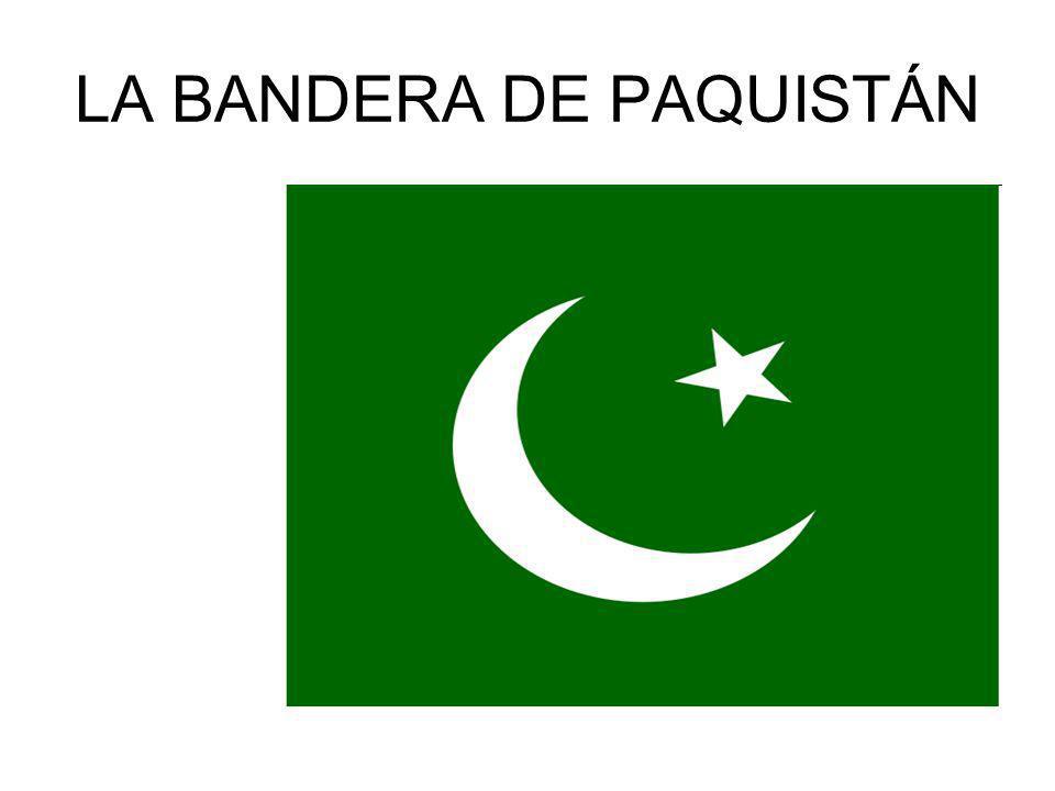 LA BANDERA DE PAQUISTÁN