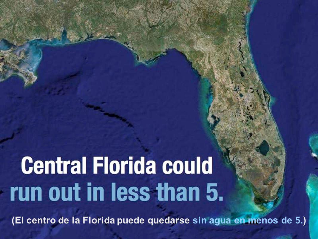 (El centro de la Florida puede quedarse sin agua en menos de 5.)