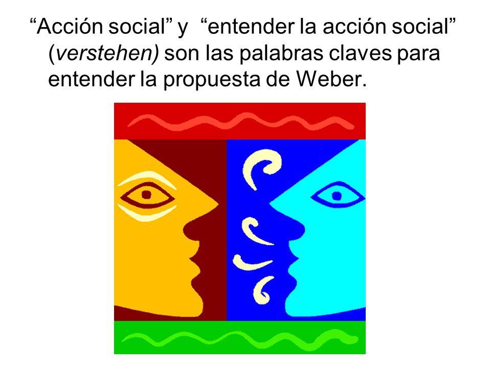 Weber no pretende transformar cualquier acción social en objeto de la Sociología.