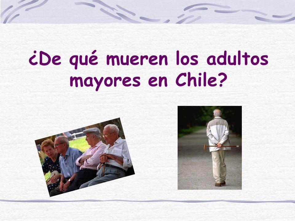 ¿De qué mueren los adultos mayores en Chile?