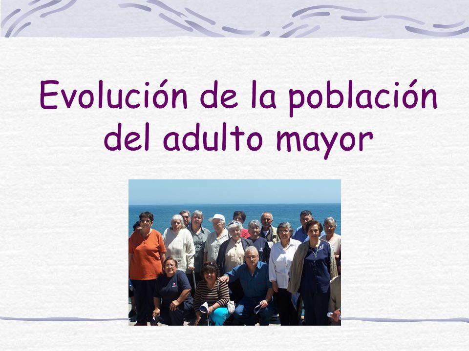 Según el último Censo de Población y Vivienda realizado en Chile en el año 2002 la población mayor de 60 años representaría 11,4% de la población total nacional, es decir, 400.000 más de los registrados en el Censo anterior del año 1992.