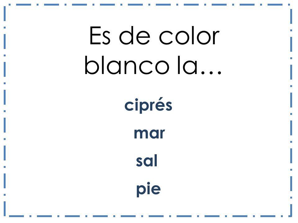 ciprés Es de color blanco la… sal mar pie