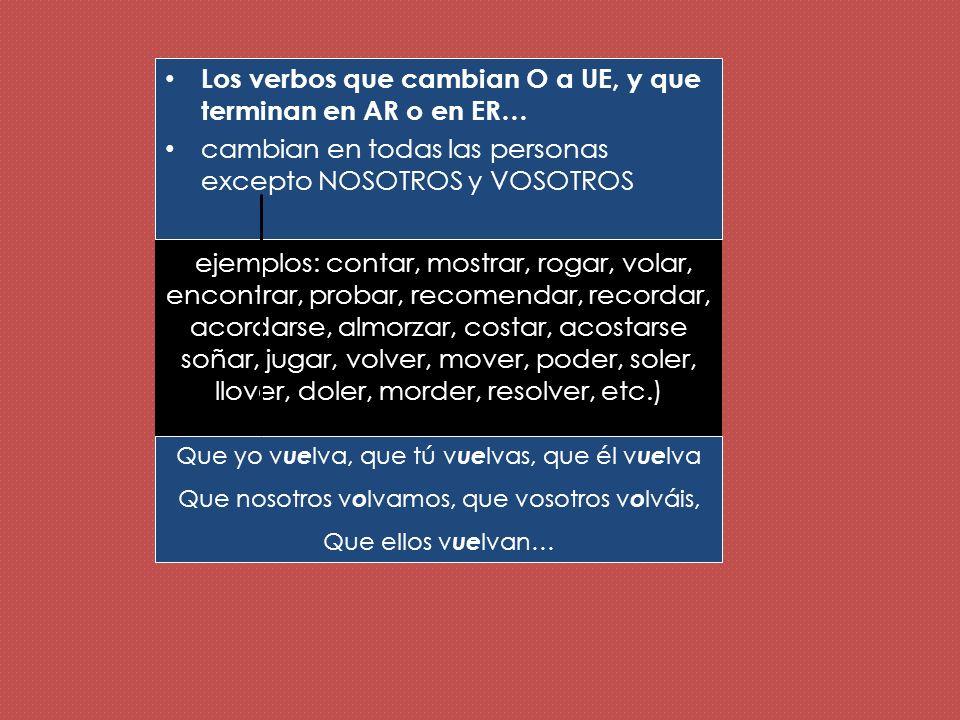 Los verbos que cambian E a I Ejemplos: pedir, seguir, reír, servir, repetir, impedir, competir, despedirse, elegir, corregir, vestirse, medir, etc.