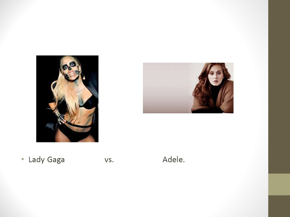Lady Gaga vs.Adele.