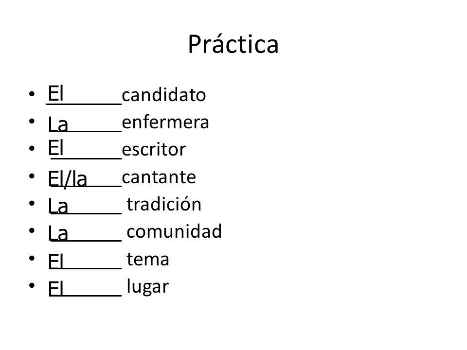 Los Sustantivos Plurales: el los la las Sustantivos terminando con -z cambian a -c, añade -es el lápiz los lápices#2#2 Algunos necesistan o no necesitan acentos: el examen los exámenes la nación las naciones