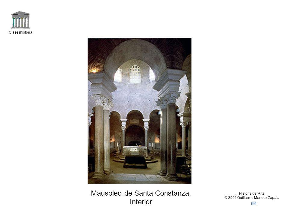Claseshistoria Historia del Arte © 2006 Guillermo Méndez Zapata Mausoleo de Santa Constanza. Interior