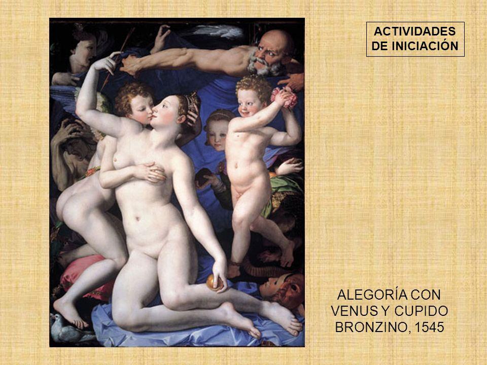 ALEGORÍA CON VENUS Y CUPIDO BRONZINO, 1545 ACTIVIDADES DE INICIACIÓN