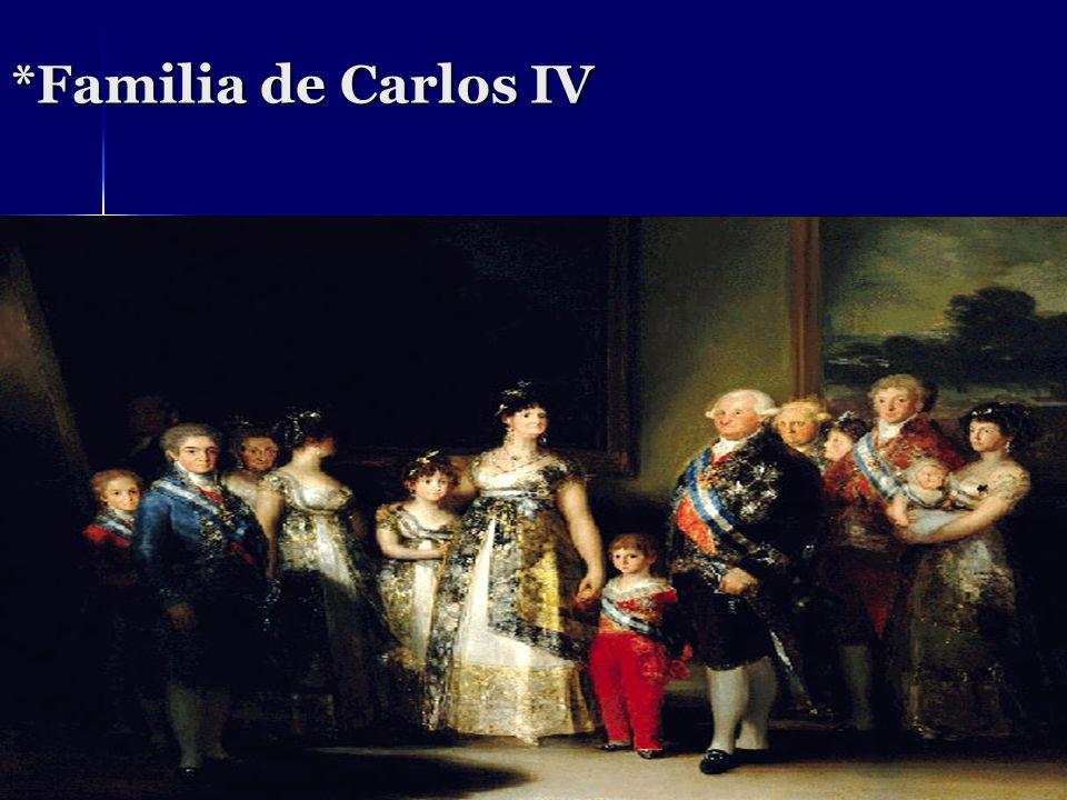 *Familia de Carlos IV