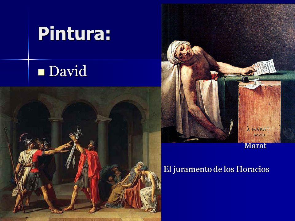 Pintura: David Marat El juramento de los Horacios David Marat El juramento de los Horacios