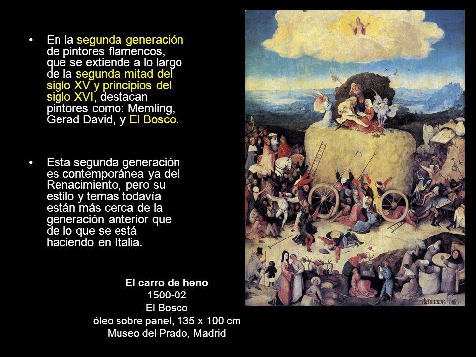 En la segunda generación de pintores flamencos, que se extiende a lo largo de la segunda mitad del siglo XV y principios del siglo XVI, destacan pinto