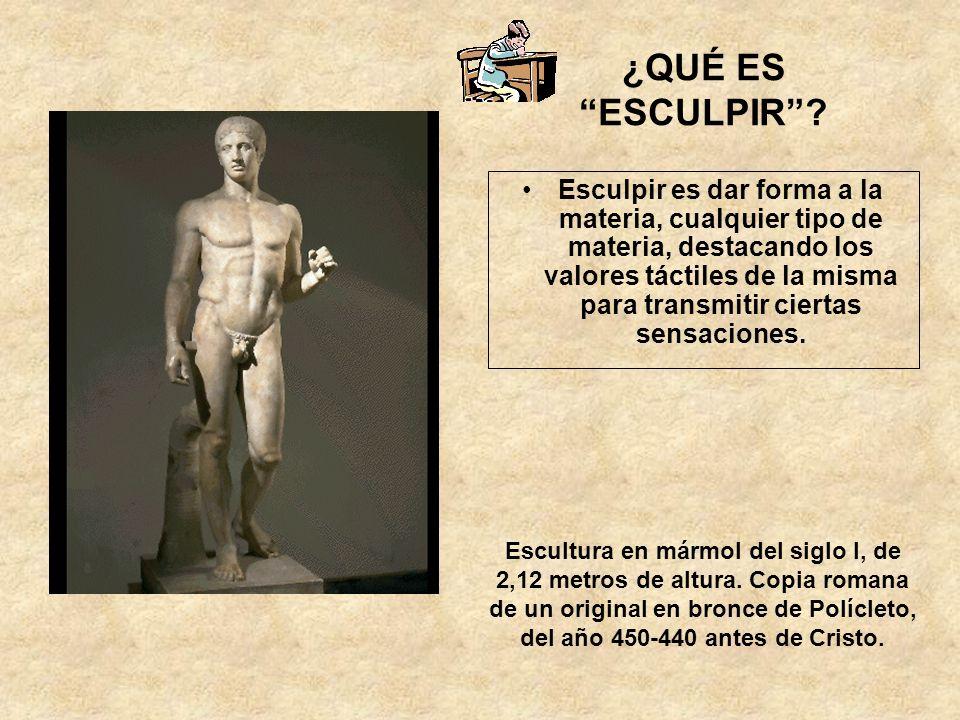 Elementos formales que se interrelacionan en cualquier obra escultórica LOS MATERIALES EL VOLUMEN EL MOVIMIENTO LA COMPOSICIÓN LA PROPORCIÓN LA MASA LA LUZ EL COLOR LA EXPRESIÓN FORMAL LA TEMÁTICA LA FUNCIÓN Y EL SIGNIFICADO DE LA OBRA