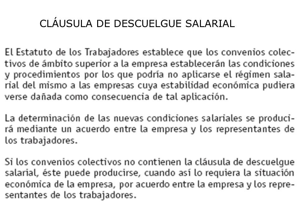 CLÁUSULA DE DESCUELGUE SALARIAL