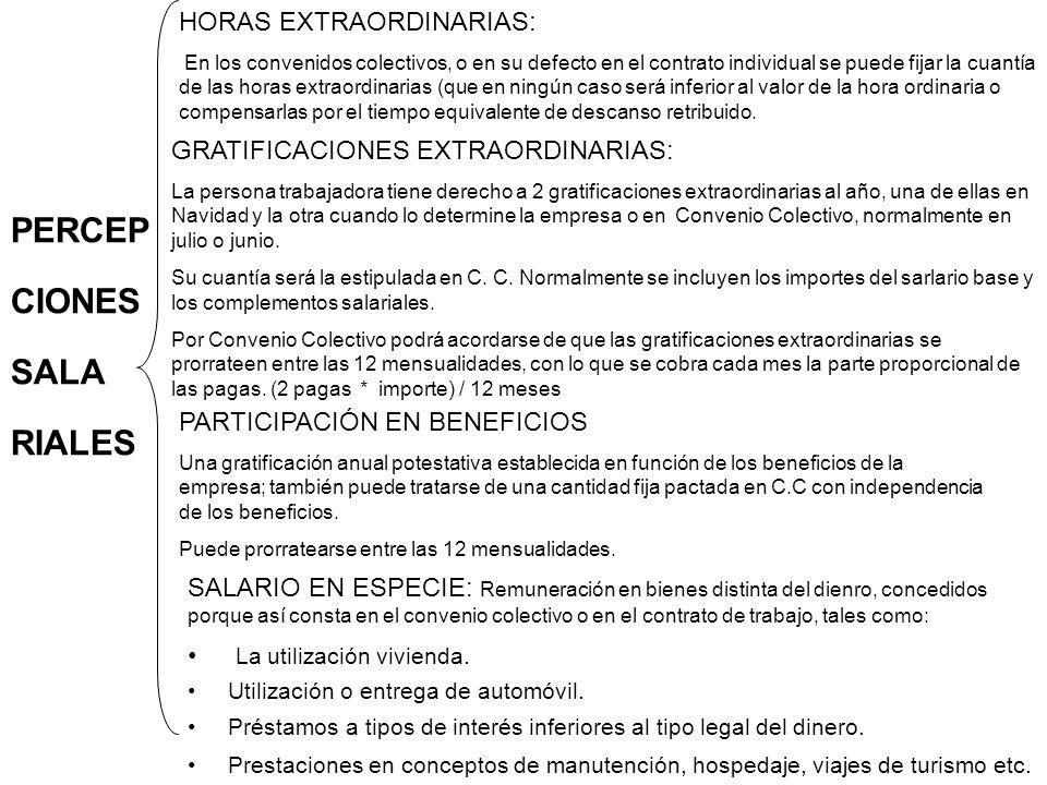 HORAS EXTRAORDINARIAS: En los convenidos colectivos, o en su defecto en el contrato individual se puede fijar la cuantía de las horas extraordinarias