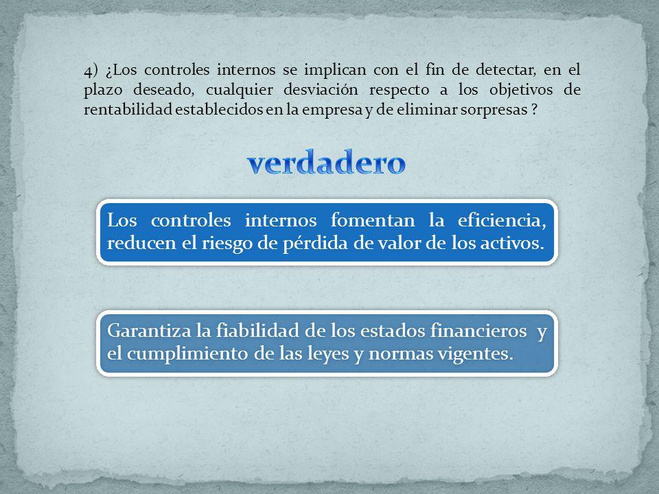 5) El control interno costa de cinco componentes relacionados entre si ¿Cuáles son.