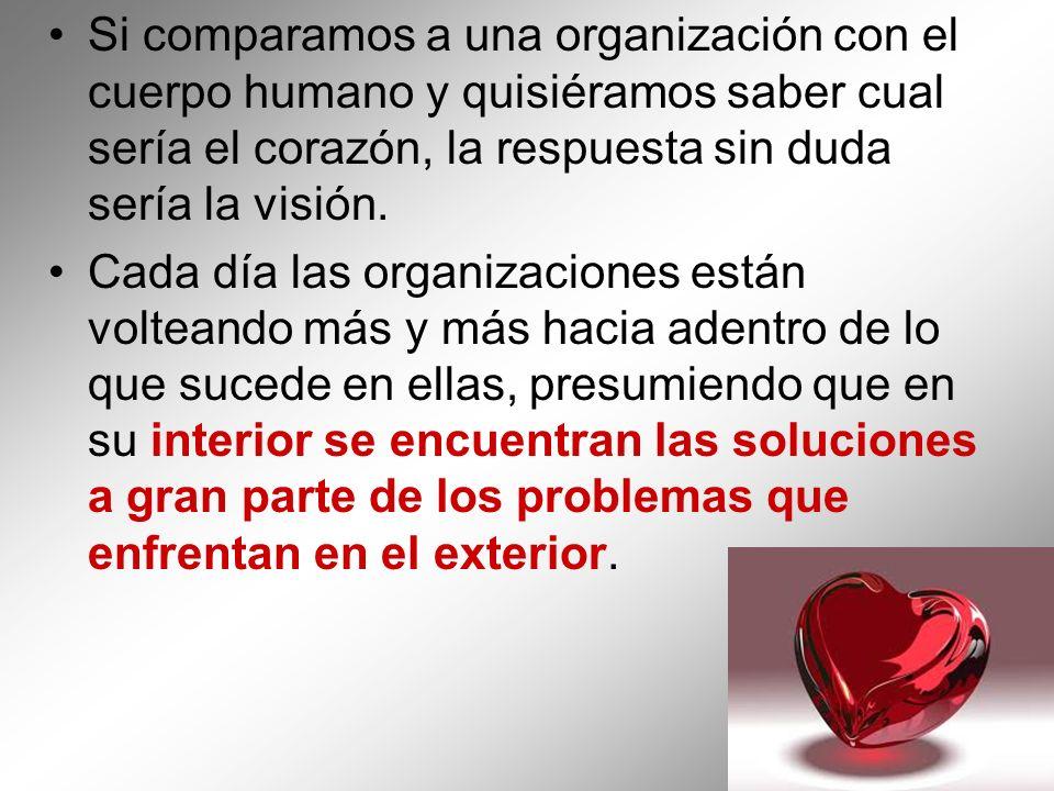 Si comparamos a una organización con el cuerpo humano y quisiéramos saber cual sería el corazón, la respuesta sin duda sería la visión. Cada día las o