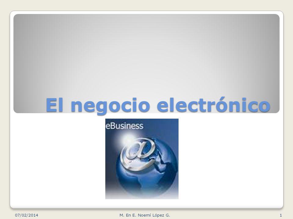 El negocio electrónico 07/02/20141M. En E. Noemí López G.