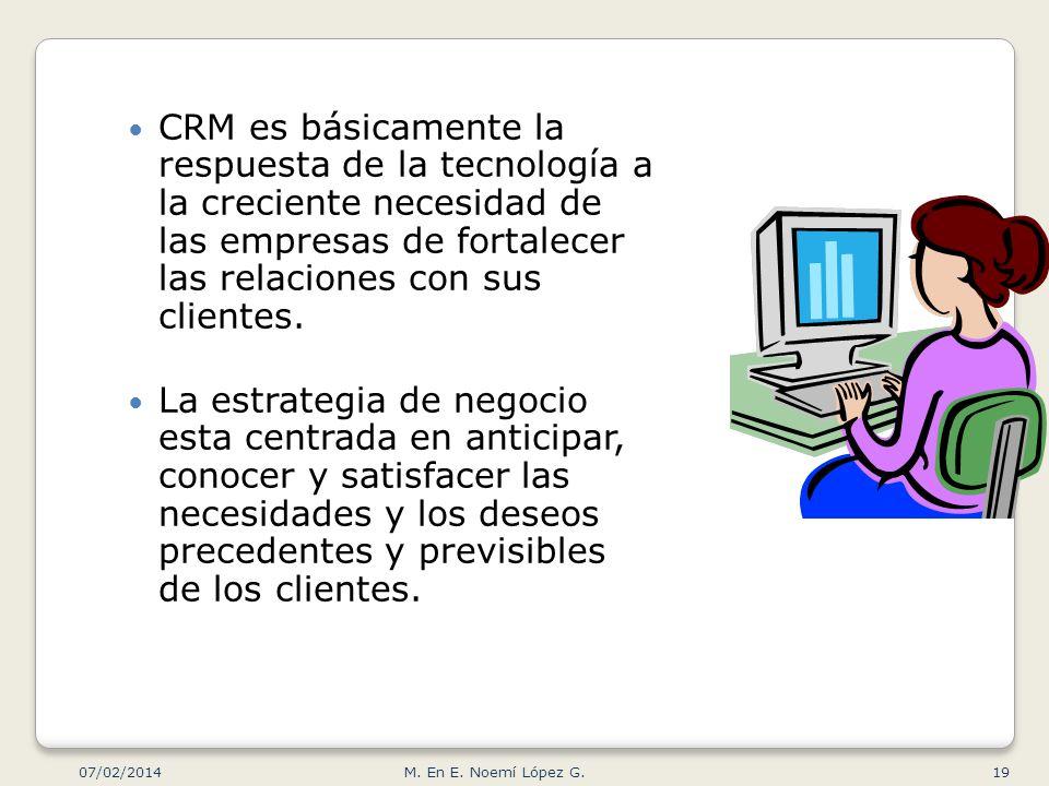 CRM es básicamente la respuesta de la tecnología a la creciente necesidad de las empresas de fortalecer las relaciones con sus clientes. La estrategia