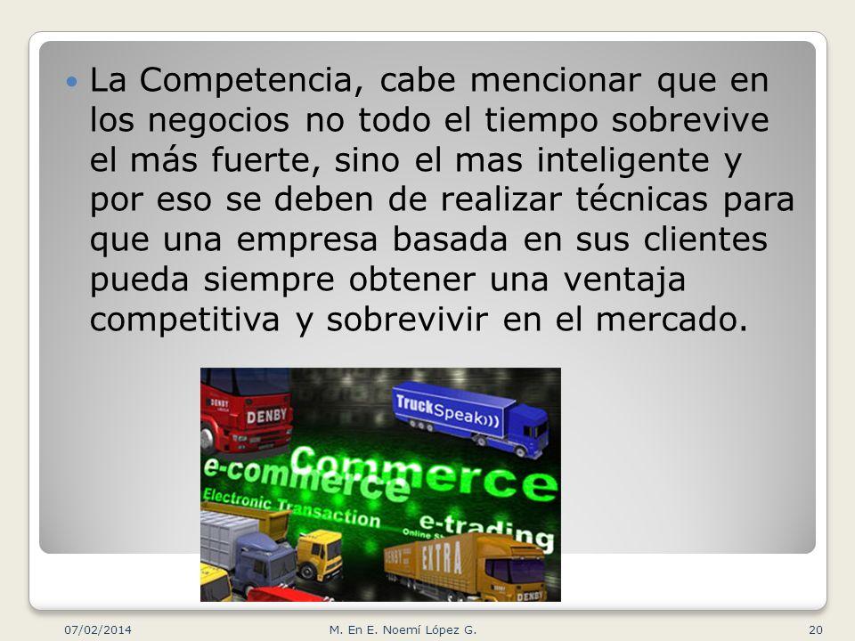 La Competencia, cabe mencionar que en los negocios no todo el tiempo sobrevive el más fuerte, sino el mas inteligente y por eso se deben de realizar t
